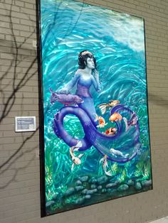 We Wait in Waves With Love, 5x8 mural at Art Explored.  It displayed in downtown Royal Oak, MI on 4th street next to the entrance to the Royal Oak Brewery.