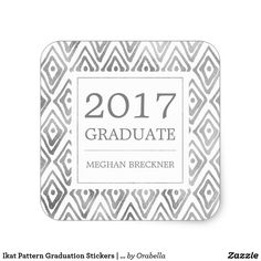 Get your hands on great customizable Graduation stickers from Zazzle. Graduation Stickers, Graduation Party Supplies, Ikat Pattern, Graduation Announcements, Different Shapes, Custom Stickers, Activities For Kids, Diy Projects, Make It Yourself