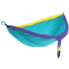 Easy one! Everyone needs at least on #ENO Doublenest Hammock! It's essential for a day in the crag to relax while your climber friends are on the rope. We currently carry 22 different colors!!!  #EaglesNestOutfitters at RockCreek.com