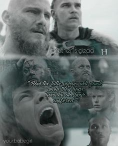 """"""" How the little piggies will grunt, when they hear how the old boar suffered """" #ivar #Ragnar #lothbrok #vikings #ruthless #bjorn #ubbe #rollo #odin ig/ your.babegirl for more edits"""