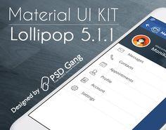 Material UI KIT Lollipop 5.1.1