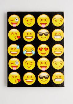 So Emojinal Stretched Canvas   Emoji   rue21
