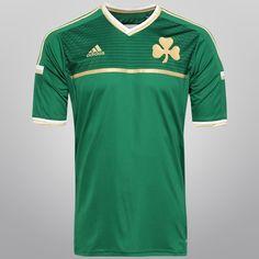 Camisa Adidas Panathinaikos Home 14 15 s nº - Verde+Dourado 34398707ca92e