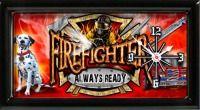Always Ready Firefighter Clock
