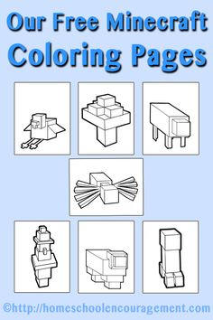 9 pages of Minecraft coloring pages perfect for your minecraft fan - free. Minecraft Activities, Kindergarten Activities, Work Activities, Coloring Pages For Boys, Free Coloring Pages, Minecraft School, Lego Minecraft, Minecraft Stuff, Minecraft Projects