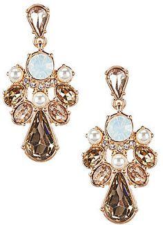 Gemma Layne Rhinestone Cluster Drop Earrings