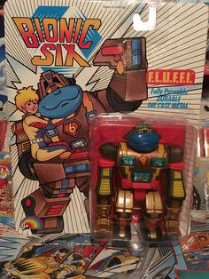This is F.L.U.F.F.I. from the Bionic Six line of toys and action figures from LJN. These are part of my personal toy collection.