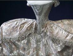 Marie-antoinette Queen of France's wedding dress...imagin how TINY her waist was!