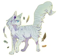""""""" actualfeathertail said: if you're still doing requests, could you draw feathertail? """" wow look at all these feathers"""