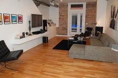 Living room in a city #loft
