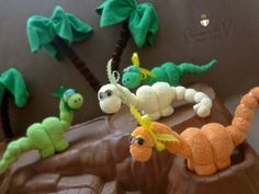 THE ORIGINAL Washcloth Dinosaur Diaper Cake by PrincessAndThePbaby, $4.99