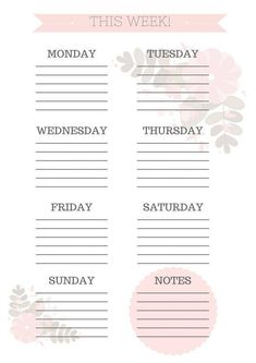 planning your day Printable Weekly Planner To Do Planner, School Planner, Planner Pages, Happy Planner, Week Planner, College Planner, College Tips, Weekly Planner Printable, Planner Template