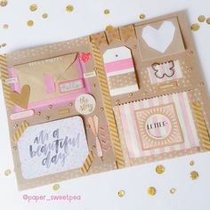 Inside recent outgoing happymail I sent.This was the first booklet I had made!