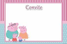 children's birthday invitation Peppa pig to print Fiestas Peppa Pig, Cumple Peppa Pig, Peppa Pig Printables, Aniversario Peppa Pig, Penguin Drawing, George Pig, Pig Party, 4th Birthday, Birthday Invitations