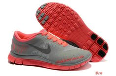 the best attitude 45d7b 14288 Hot Punch Shoes Pink Womens Nike Free 4.0 V2 Cool Grey 511527 600 Nike Free  Run