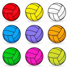 Cartoon volleyball in different colors  #GraphicRiver         Cartoon volleyball. Illustration on white background     Created: 16January12 GraphicsFilesIncluded: VectorEPS Layered: Yes MinimumAdobeCSVersion: CS Tags: Forefinger #abstract #activity #art #background #ball #blue #cartoon #color #colored #competition #competitive #concept #conceptual #design #digital #element #equipment #finger #game #gloss #graphic #hand #human #idea #illustration #image #isolated #leisure #metaphor