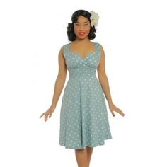 956e6fa50823 ... Duck Egg Blue Polka Dot Swing Dress. Size 16 Dresses50s DressesFashion  DressesSummer DressesVintage Inspired FashionVintage Inspired DressesLindy  Bop ...