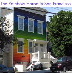 7a3dfa3cac0fc Rainbow house  paintcolors Exterior House Colors