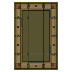 Shop Shaw Living 7-ft 10-in x 10-ft 9-in Celadon Leaf Point Area Rug at Lowes.com