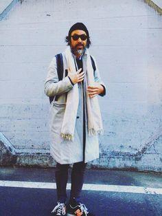 """soeのチェスターコート「COTTON STRIPE WORK COAT """"THENEWART"""" / コットンストライプワークコート」を使ったYosaKuginoのコーディネートです。WEARはモデル・俳優・ショップスタッフなどの着こなしをチェックできるファッションコーディネートサイトです。"""