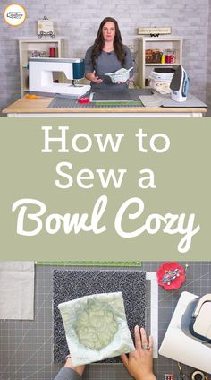 "The first step in making a bowl cozy is gathering your supplies. The finished size of cozy you wish to make determines the starting size of fabric square you begin with. Ashley explains that you can start with a square of fabric around 12""-13"" to make a medium sized bowl cozy. For this project you will need two squares of fabric, one for the outside of the cozy and one for the lining. You will also need a square of batting the same size as your fabric. This project is one where you can… Quilting Projects, Sewing Projects, Leftover Fabric, Fabric Squares, Cozies, Project Yourself, Easy Projects, Fabric Scraps, Sewing Ideas"