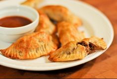 Spicy chicken empanadas with cilantro lime dipping sauce More