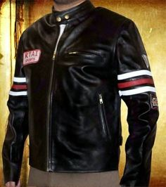 $199.00 Sale on Gregory House Black Leather Motorbike Winter Jackets, also Buy Real Leather Sport Outerwear collar Button Jackets in discounted Price.    #HouseMD #gregory