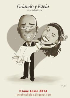 Caricatura para matrimonio , por encargo #caricature #wedding #panama