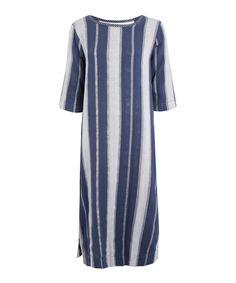 Ace & Jig Navy Metallic Stripe Celestial Dress   Womenswear   Liberty.co.uk