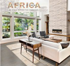 Don't forget your walls when shopping for tiles! Is there anything more eye-catching than a beautifully clad fireplace? Bring the outdoors in with a stone-look tile on the floor, paired with rich cladding on your feature wall. #outofafrica #africanstyle #home #homedecor #homegoals #cladding #tiles Outdoor Furniture Sets, Furniture, Outdoor Decor, Home, Outdoor Furniture, Feature Wall, Flooring, Stone Look Tile, Stone Fireplace
