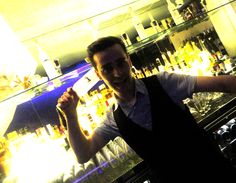 """The first round of """"Three Masquiteers at Cocochan"""" 's winner goes to - (drumming) - Bastian the French!  Congrats to Bastien for selling his Babicka Vodka Cocktail """"Hummingbird"""" over 200 servings! Enjoy a well-earned prize of a bottle!"""