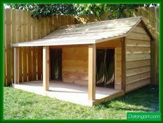 free double dog house plans | Dog House With Porch Plans Free1 Design Idea
