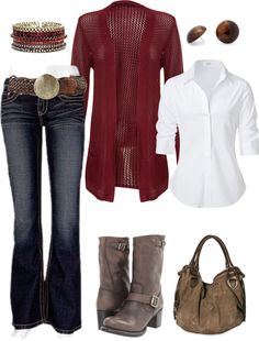 """Leather & Scarlet"" by caliarch on Polyvore"