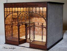 Boutique Art Nouveau en cours de réalisation,