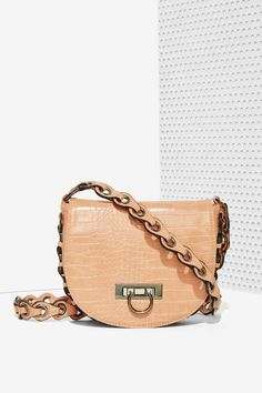 Nasty Gal x Nila Anthony Croc Out Crossbody Bag
