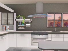 The Sims Resource - TSR Kitchen and Dining by Ung999 One Room Living third part 16 items - Sims 3 Downloads CC Caboodle