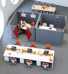 The open office has delivered many benefits; however there is a need for privacy within the workplace environment. Haven Pods provide a defined space for individual focused work and spaces for team collaboration.  The space efficient geometric design also enhances the acoustic performance of the product.