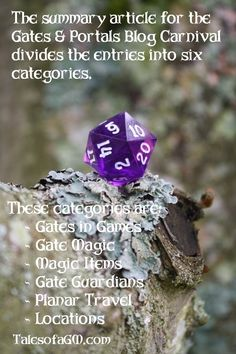 Summary for the Gates & Portals January Blog Carnival. For more details see Tales of a GM.