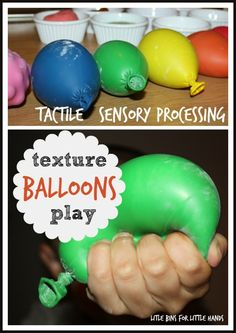 Simple To Make Texture Balloons for Tactile Sensory processing Input Repinned by www.toolstogrowot.com