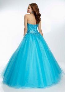 Strapless corset beaded sweetheart prom dress