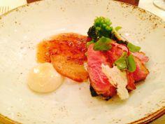 Duck breast with onion - speck sauce Menu Restaurant, Onion, Breast, Onions