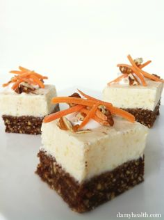 This recipe is skinny, gluten free, no-bake, 5 minute prep, and a whole lot of carrot cake yummyness