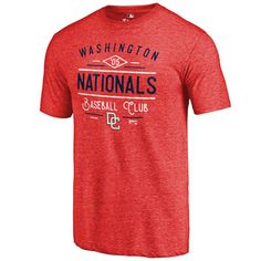 9708fab2d Washington Nationals Fanatics Branded Red Cooperstown Collection Doubleday  Tri-Blend T-Shirt Washington Nationals