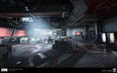 ArtStation - DOOM: Argent Facility (Destroyed) Environments, Cameron Kerby