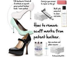 How to remove scuffs from patent leather shoes