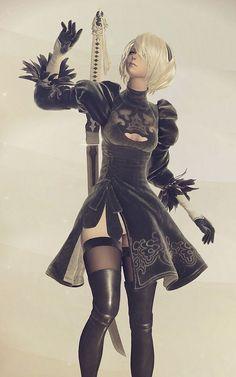 Nier Automata 2b art #nier2b #nierAutomata #cosplayclass Comic Character, Game Character, Character Design, Fantasy Characters, Female Characters, Ecchi, Video Game Art, Fantasy Girl, Female Art