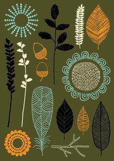 Nature Trail No3, limited edition giclee print. $25.00, via Etsy.