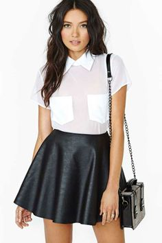I love the shirt but I like the outfit more… it's classy but has an urban twist!