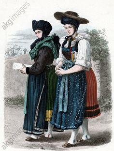 Wendische Bäuerinnen aus dem Kreise Lebus, Mark Brandenburg