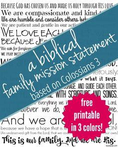 Family Mission Statement - Pinterest